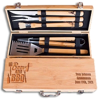 Personalized Beer & BBQ Grill Set