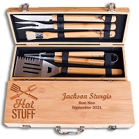 Personalized Hot Stuff Grill Set