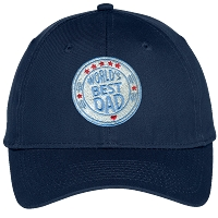 World's Best Dad Embroidered Hat
