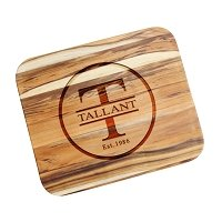 Teak Cutting Board Personalized Family Circle