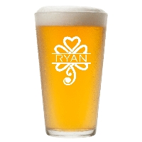 Personalized Celtic Shamrock Pint Glass