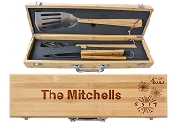 Personalized 4th of July BBQ Grill Set