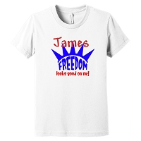 Personalized Fourth of July Youth Tee - Freedom Looks Go On Me