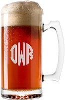 Block Monogram Beer Mug