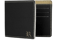 Engraved Men's Wallet with Custom Gothic Initial
