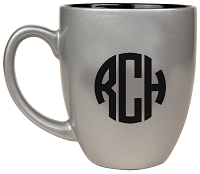 Personalized Ceramic Coffee Mugs for Dad - Block Monogram