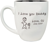 I Love My Daddy Custom Engraved Coffee Mug