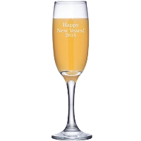 Engraved Happy New Years 2018 Champagne Flute
