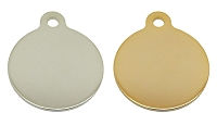 Polished Circle Pet ID Tag