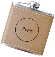 6 oz Engraved Flask with Personalization - Choose Your Color