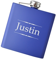 Traditional 6 oz Name Flask - Choose Your Color