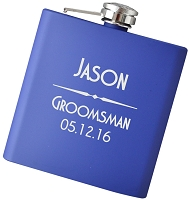 6oz Modern Engraved Flask with Personalization - Choose Your Color