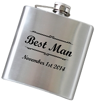 Elegant 6 oz Flask with Personalization - Choose Your Color
