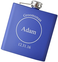 6 oz Custom Engraved Flask - Choose Your Color