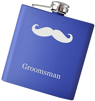 6 oz Jr. 'Stache Flask with Personalization - Choose Your Color