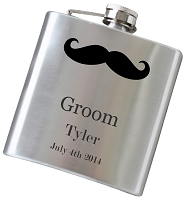 6 oz Wedding Party Flask - Choose Your Color