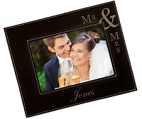 Personalized Mr and Mrs Engraved Picture Frame
