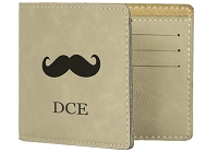 Engraved Mustache Wallet - F21
