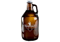 Personalized Beer Growler with Baseball Badge and Text
