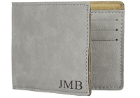 Personalized Men's Wallet with Engraved Initials