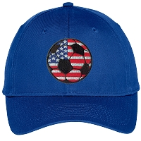 USA Soccer Ball Embroidered Hat