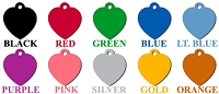 Heart Pet ID Tag
