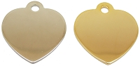 Polished Heart Pet ID Tag