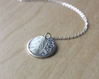 Engraved Sterling Silver Script Necklace