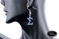 Dangle Earrings - Tiny Greek Letter