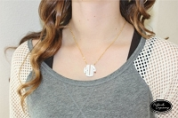 Block Monogram Necklace - Extra Small