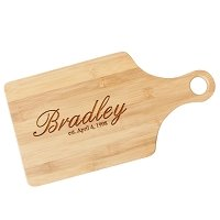 Script Name Engraved Paddle Cutting Board