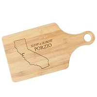 State Pride Wooden Paddle Cutting Board