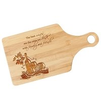 Custom Engraved Wine Lovers Paddle Cutting Board