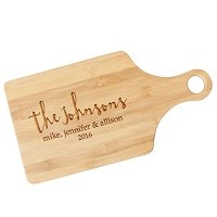 Personalized Family Love Paddle Cutting Board