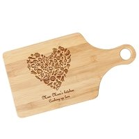 Food Lovers Engraved Wood Paddle Cutting Board