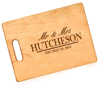 Personalized Cutting Board Wedding Gift - Mr and Mrs
