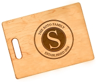 Maple Family Stamp Customized Cutting Board