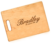 Script Name Personalized Maple Cutting Board