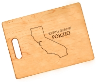 Engraved State Pride Maple Cutting Board