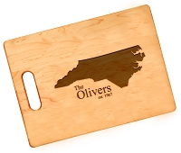 Personalized State Love Engraved Maple Cutting Board