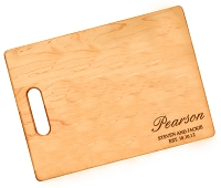 Personalized Pearson Script Maple Cutting Board