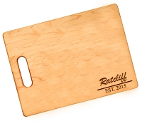 Ratcliff Bold Engraved Maple Cutting Board