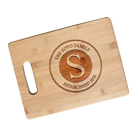 Bamboo Cutting Board with Handle - The Stamp
