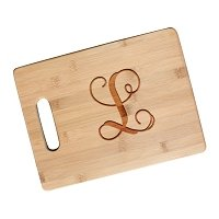 Monogram Initial Bamboo Cutting Board