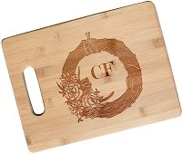 Personalized Autumn Wreath Cutting Board