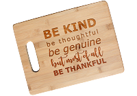 Be Thankful Engraved Cutting Board with Handle