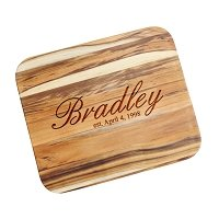 Personalized Cutting Board with Script Name