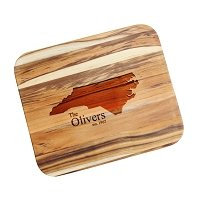 Custom State Silhouette Teak Cutting Board