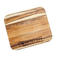 Personalized Teak Cutting Board with Family Name