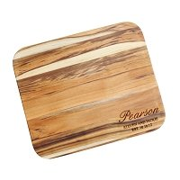 Personalized Teak Cutting Board - Pearson Script